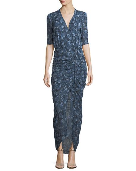 3ad426bcd Veronica Beard Mariposa Floral-Printed Silk Midi Dress