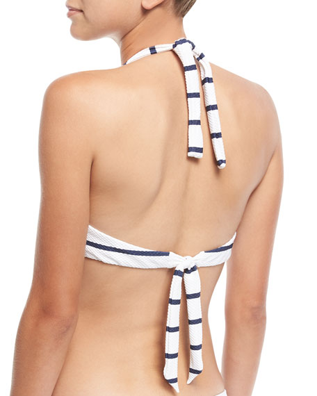 Core Textured Rectangle Halter Swim Top