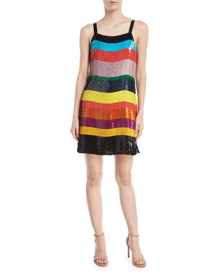 Bridget Striped Sequin Slip Dress