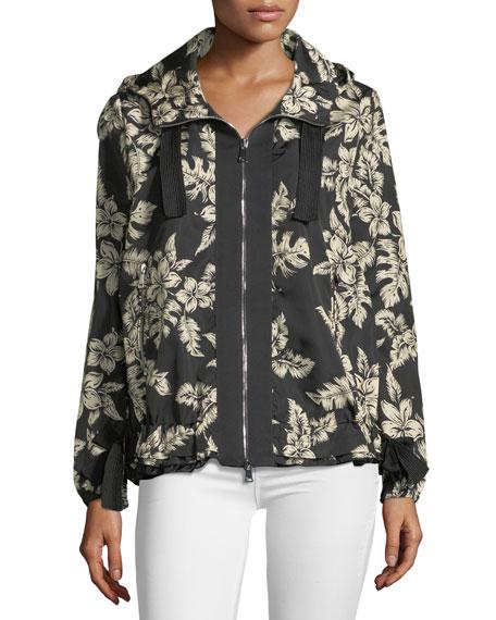 Morion Hawaiian-Print Jacket w/ Hood