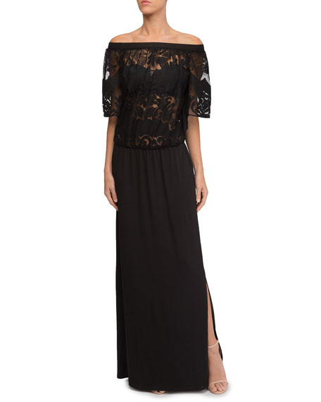 Perfect Allure Lace Top Long Beach Dress