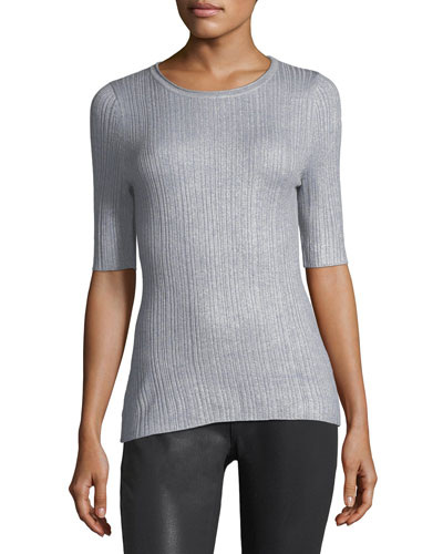 Shantay Half-Sleeve Merino Sweater