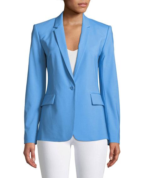 Essential One-Button Stretch-Wool Jacket