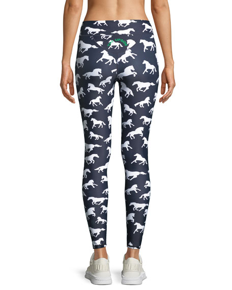 Horses Drawstring Yoga Leggings