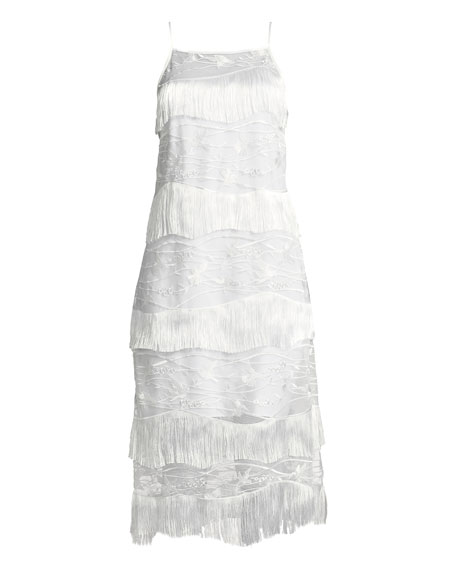 Cleo Fringed-Trim Shift Dress