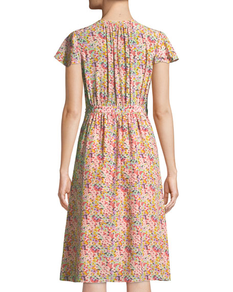 Margo Floral-Print Silk Wrap Dress