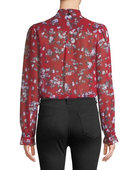 f1416e0ab3f702 Rag   Bone Susan Button-Down Floral-Print Silk Blouse