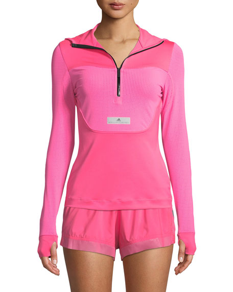3d82c86686 adidas by Stella McCartney Run Hooded Long-Sleeve Performance Top