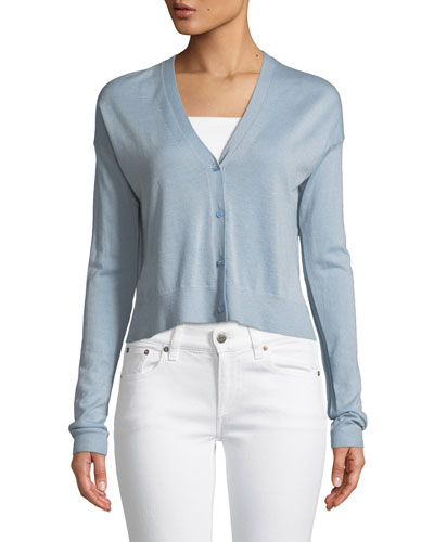 Hanelee Button-Front Cashmere Cardigan