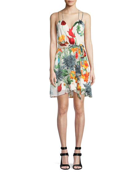 Image 1 of 1: Susana Floral Faux-Wrap Dress