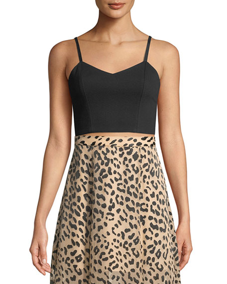 Archer V-Neck Cropped Bustier Top
