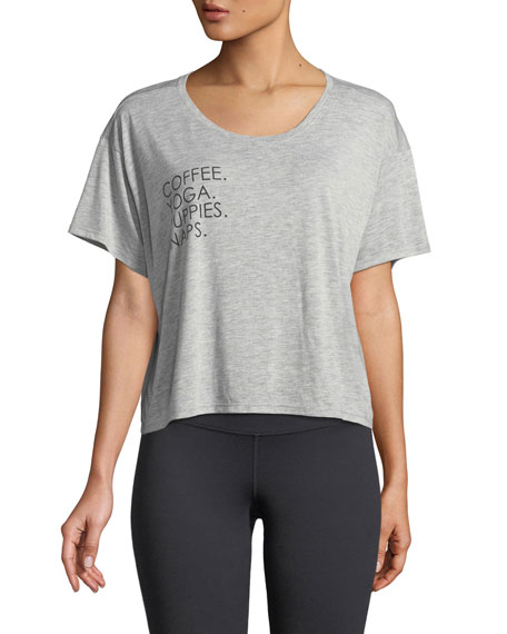 Image 1 of 1: Boxy Short-Sleeve Graphic Tee