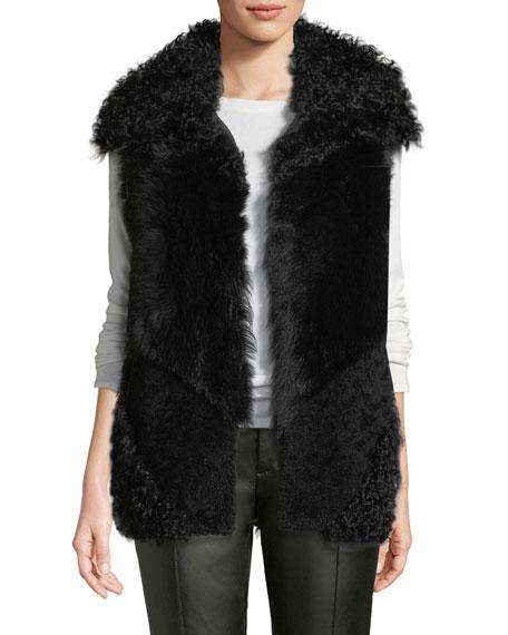Patchwork Lamb Shearling Fur Vest