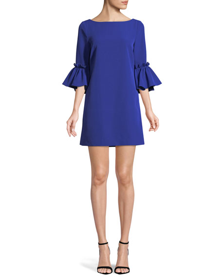 Image 1 of 1: Kinsley Italian Cady Shift Dress