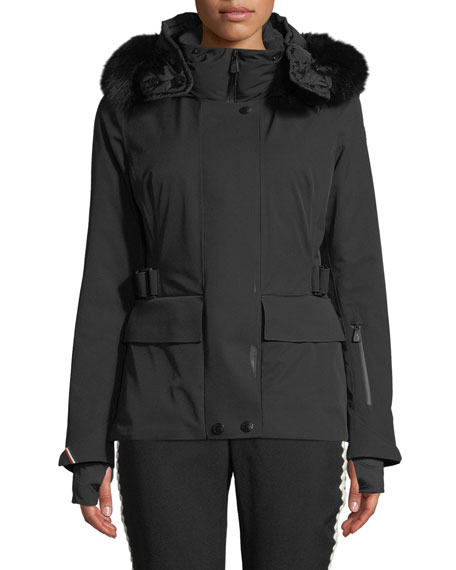 Image 1 of 1: Entova Parka Coat w/ Removable Fur Hood