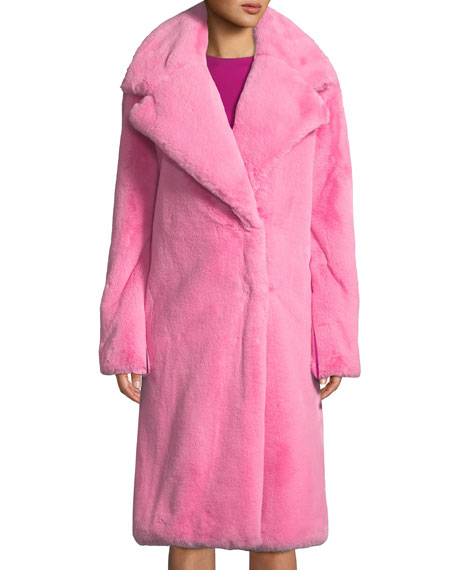 1ff738129061 Milly Riley Long Faux-Fur Coat