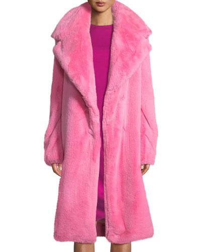 Riley Long Faux-Fur Coat