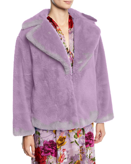 Thora Oversized Faux-Fur Chubby Coat