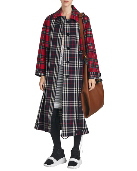 Burberry Check and Tartan Cotton Trench Coat cf866790a68