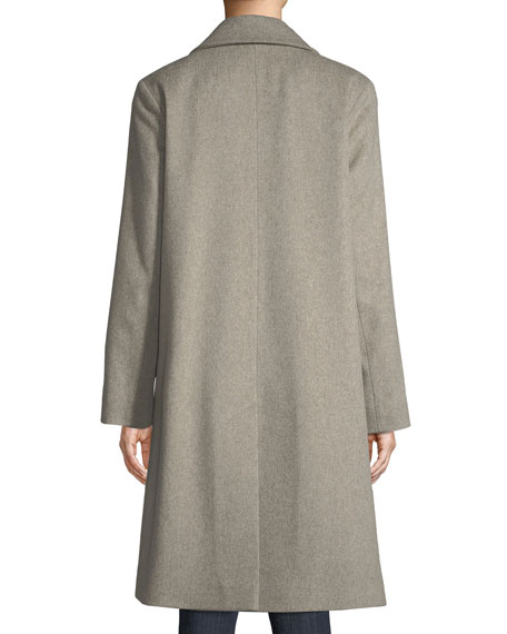 Long Double-Breasted Wool Coat