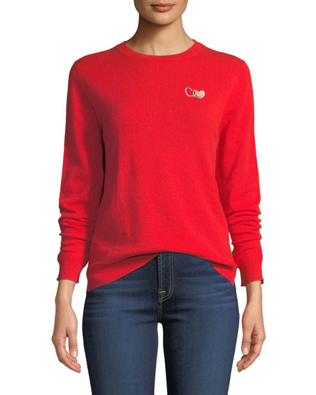 Chinti And Parker Twin Heart Cashmere Crewneck Pullover