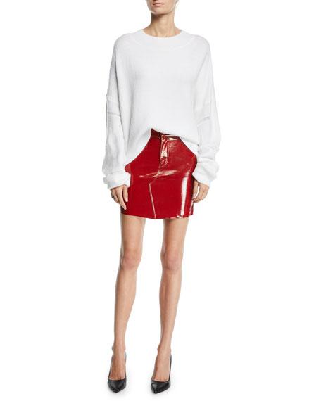 Callie Patent Leather Mini Skirt