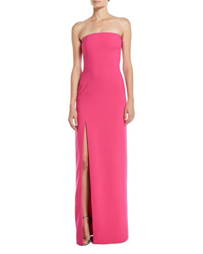 Palmer Strapless Gown w/ High Slit