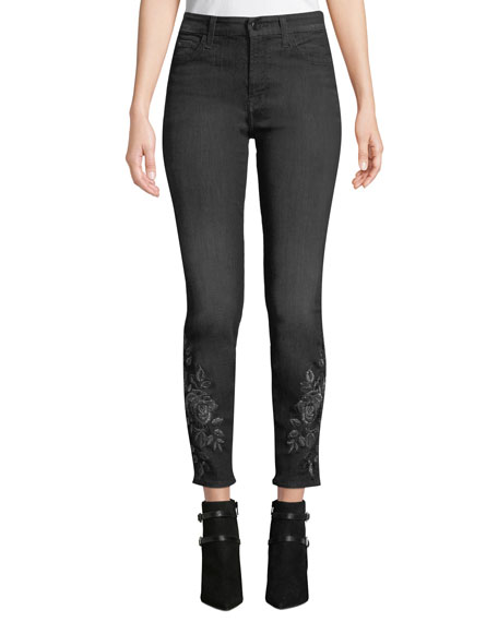 Jen7 by 7 for All Mankind Metallic Floral-Embroidery