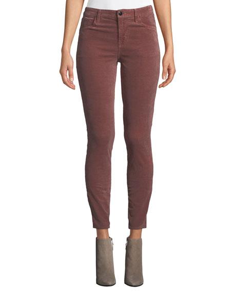 Maria High-Rise Velvet Skinny Pants