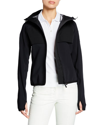 Hooded Zip Jacket w/ Thumbholes