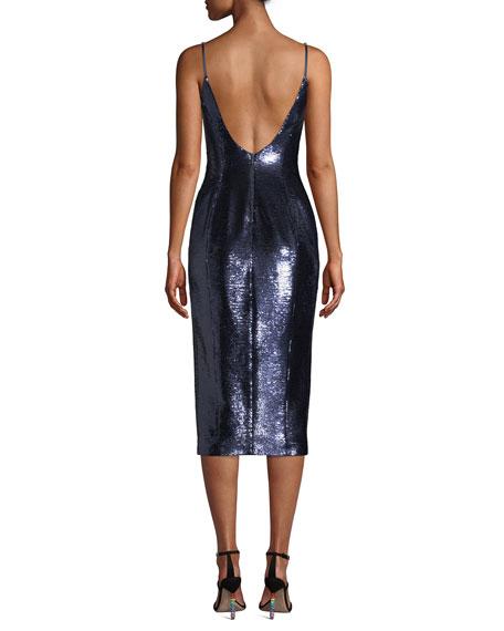 Avery Sleeveless Sequin Slip Cocktail Dress