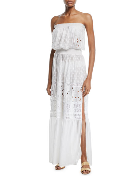 Image 1 of 1: Isadora Cotton-Silk Strapless Coverup Dress