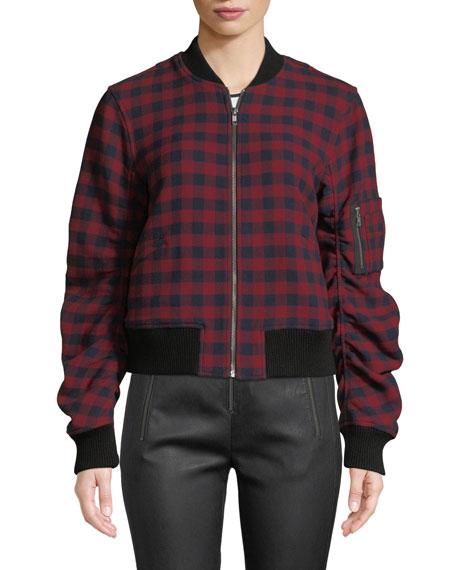 Andrew Plaid Wool Bomber Jacket