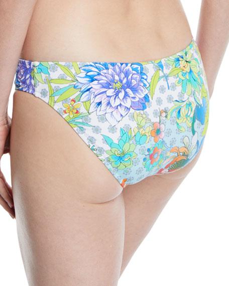 Destin Floral-Print Hipster Bikini Bottoms