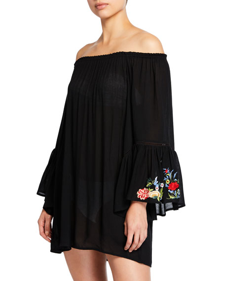 Johnny Was CASEY BELL-SLEEVE TUNIC COVERUP