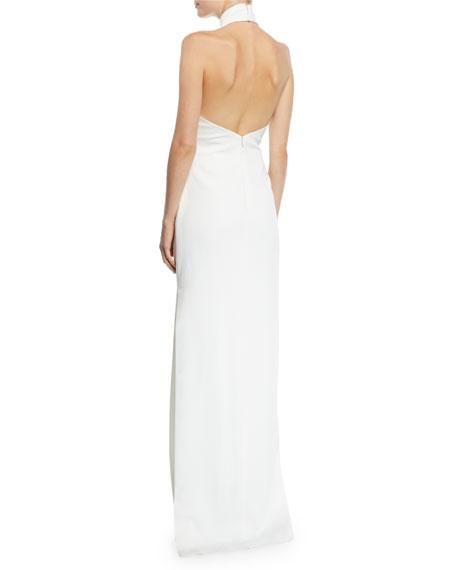 Meghan Halter Column Gown