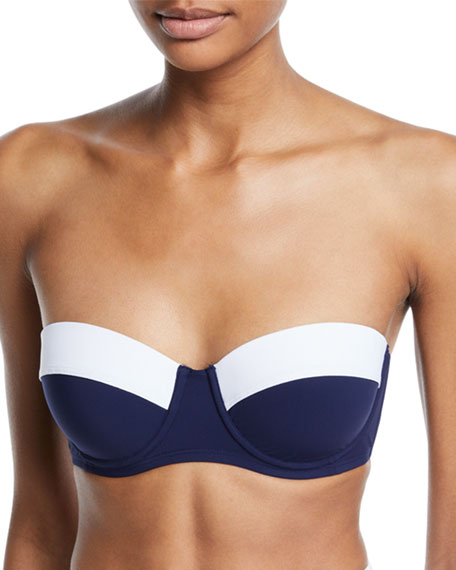 Image 1 of 1: Lipsi Colorblock Underwire Bikini Swim Top