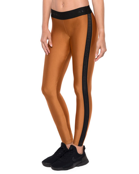 Atom Mid-Rise Leggings with Textured Sides