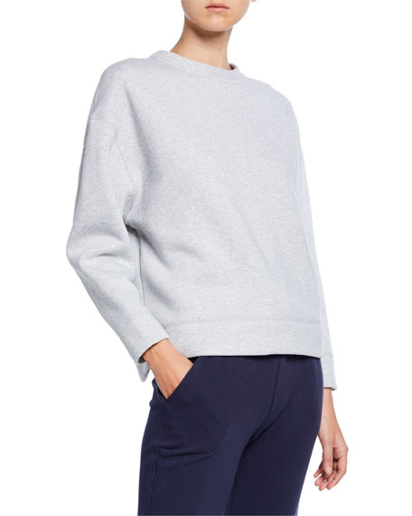 Oversized Cotton Fleece Pullover