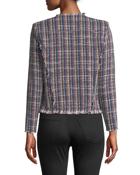 Frannie Collarless Tweed Jacket