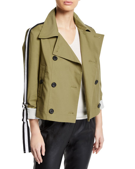 Mert Cropped Jacket with Belted Sleeves