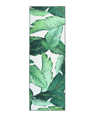 Banana Leaf Printed Yoga Towel