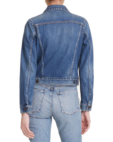 Nica Slim Cropped Denim Jacket