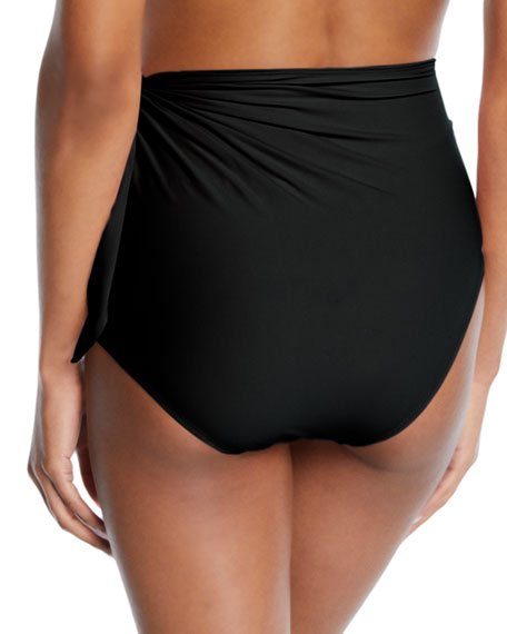 High-Waist Side-Tie Bikini Swim Bottoms