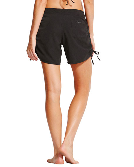 Ruched Drawstring Board Shorts