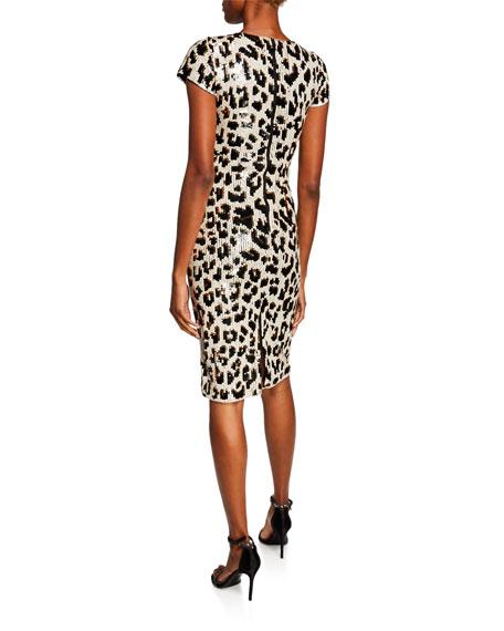 Nat Embellished Short-Sleeve Dress