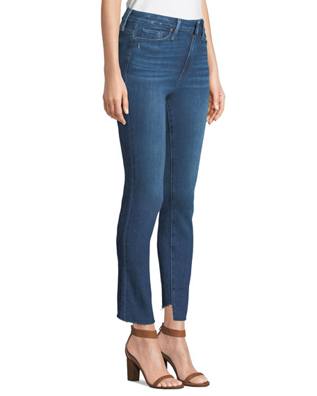 Margot Straight-Leg Ankle Jeans with Raw Hem