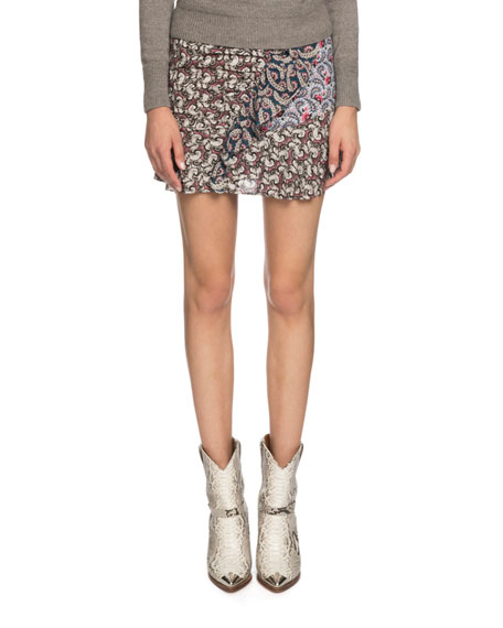 Loz Printed Ruffle Short Skirt