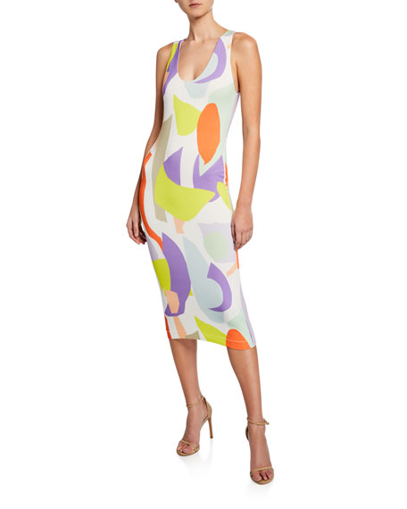 Image 1 of 1: James Scoop-Neck Sleeveless Fitted Dress