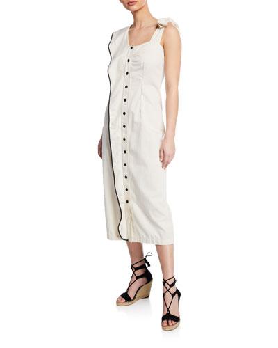 Northfork Ruffle Button-Front Long Dress
